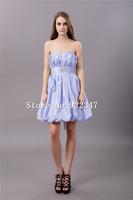 Free Shipping fashion custom made designer dresses plus size bridesmaid dress short bridesmaid dresses 2014