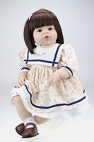 28 inches Reborn toddler full vinyl reborn baby dolls Arianna short reddish hair handmade lifelike princess finished dolls