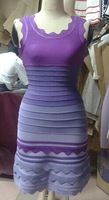 Layer sexy purple  girls sexy party bandage dress in store