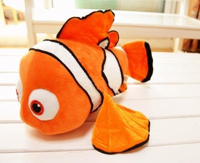 Free Shipping Finding Nemo clownfish plush toys. Nemo plush doll. Golden fish pillow, children birthday gift 45cm(China (Mainland))