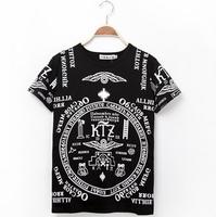 Hip hop t shirt Harajuku shirt Street dance tee shirt men and women Hiphop Rock Fashion Loose Cacual Print DJ-53