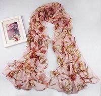 Beautiful New Floral  Chiffon Scarf Wraps Shawl Soft Scarves   sf1029