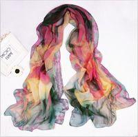 Fashion Flower Silk Chiffon Neck Scarf Wrap Shawl Stole Neck Wrap Women   sf1022