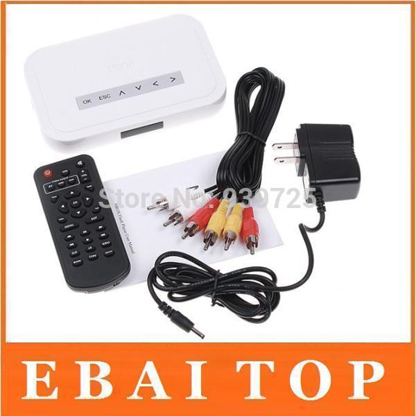 Free dhl/ups shipping!!NBOX RMVB RM MP3 AVI MPEG Divx HDD TV USB SD Card Media Player Remote With Retail Box(China (Mainland))