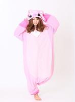 Animal Anime Pink Stitch Lilo & Stitch Pajamas Cosplay Winter Fleece Adult Women Onesie One Piece Christmas Party Costumes