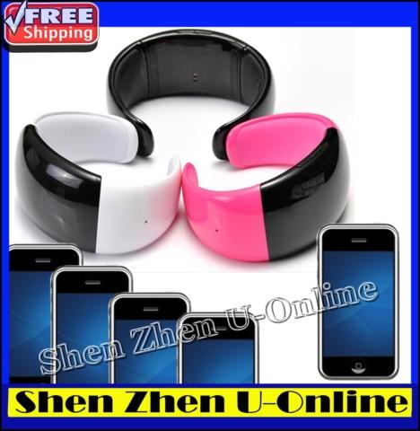 Super Bluetooth Watch Bracelet with Caller ID display+mobile phone anti-lose+vibrating alert+music play +digital clock display(China (Mainland))