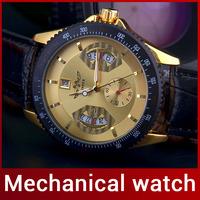 2014 New Luxury Fashion Men Automatic Mechanical Watch Self Wind Watch For Men Casual Dress Watch Calendar Work Tachymetre