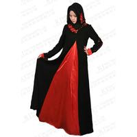 womens muslim dress ladies beautiful elegant Islamic dubai abaya dress and hijab Free Shipping