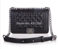 Free shipping 2014NEW Hot sell famous brand Women's handbag le boy plaid vintage chain bag leboy women handbag bag classic style