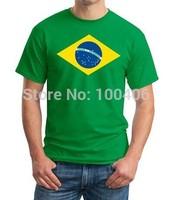 Hot Summer t shirts Brazil Vintage Scrum Country T-Shirt 2014 World Cup Custom Green T Shirts Your Designs shirts print tee