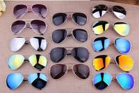 16 Colors New 2014 Fashion Vintage Coating Sunglasses Brand Designer Men Women Aviator 3025 Sun Glasses free shipping