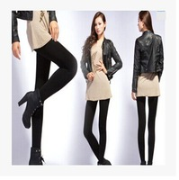 The new autumn and winter outer wear thin plus thick velvet leggings female  tidal one warm pants trousers