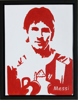 Messi Motivational Posters Football Star On Canvas Arts Picture Handmade Oil Painting