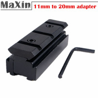 10pcs/lot Mounts Adapter 10mm/11mm to 20mm Weaver Rail for Laser Rifle Scope Mount Base Converter Adapter hunting free shipping