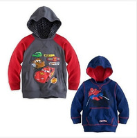 New! Free Shipping!Boys/Girls Spring/Autumn Spiderman/Cars Hooded sweatshirts/Hoodies Kids/Children T Shirts with Hood age2-7