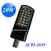 20W high power led street light 12V 24V 85-265V IP65 130LM/W LED 20*1w led street lights 2 years warranty road lamps