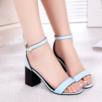 New British style Summer Womens Sexy Fashion Peep Toe Ankle Strap High Heel Genuine Leather Sandals  Wholesale Retail 2158