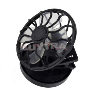 2014 New Fashion Black Solar Fans/Brand Clip-on Emergency Fan/Designer Cheap Mini Air Conditioning Appliances(China (Mainland))