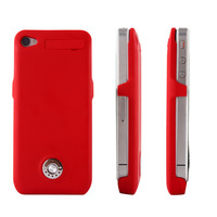 2000mAh Rechargeable External Battery Backup Charger Case Cover Pack Power Bank for iPhone 4 4S Free Shipping