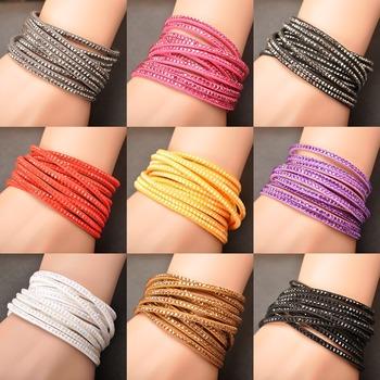Модный Wrap Bracelet Multilayer Bracelets 9 Цветs To Choose For Женщины Gift WRBR-002