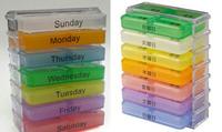 Cheap Fashion Super Practical 28 Grids One Week Pill Case/Pill Box/Medicine Box/Medicine Chest  Free Shipping GGH-P016