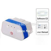 Super Mini iCar2 Vehicle Wi Fi OBD II Code Diagnostic Tool / Clearer Blue + White