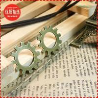6a  cog wheel shape design  diy necklace bracelet component 60pcs/lot  25MM pendants alloy  lucky Charms  Jewelry Findings