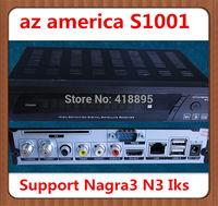 Original Newest Version Azamerica S1001 Twin Tuner Full HD Smart Card Reader&Ethernet&USB PVR Az America S1001 HD