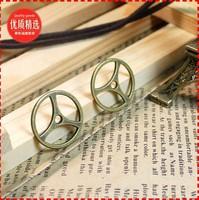 9a  cog wheel shape design  diy necklace bracelet component 100pcs/lot  19MM pendants alloy  lucky Charms  Jewelry Findings