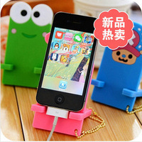 2014 fashion rubber wholesale mobile phone Cute cartoon darling animal cell phone support bracket