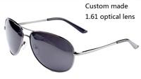 quality Myopia sunglasses ;frame+2pcs optical corrective 1.60 lenses nearsighted farsighted ;driver polarized sunglass optional