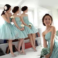 2014 women clothes short design sisters dress  tube top   formal evening dress