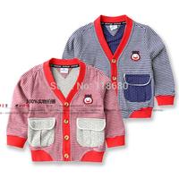 new 2014 spring autumn children outerwear baby clothing kids jackets sweatshirt child cardigan cool striped baby boy coat