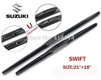 """Car wiper blades for SUZUKI SWIFT 21""""+18"""" Soft Rubber suzuki WindShield  Wiper blade 2pcs/PAIR,Free shipping"""