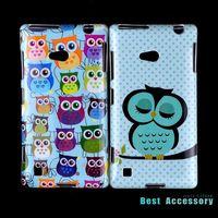 Soft TPU Case For Nokia Lumia 720 Cartoon Owls Animal Design mobile phone bags cases