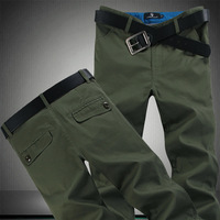 2014 100% cotton wash water male slim casual pants plus size men's clothing trousers