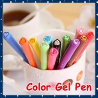 [FORREST SHOP] Kawaii School Stationery Office Supplies Cute Heart Crystal 0.5MM 12 Color Gel Pen UP-8242