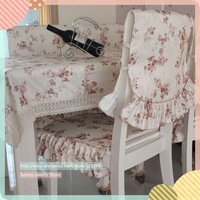 X98311 tablecloth Printed floral dining table cloth with chair cover set flower thicken textile cover decorator dustproof