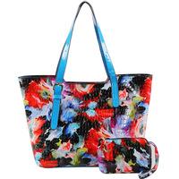 New arrive women handbags pu leather print flower desigual women leather handbags women bag