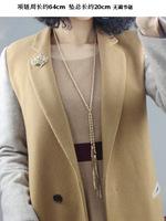 Free shipping kolye colar longo bizuteria fashion yiwu market new metal long chain necklace hot autumn tassel collar necklace
