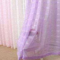 Fashion quality living room curtain yarn W100 *H270 Plaid window screening voile curtain