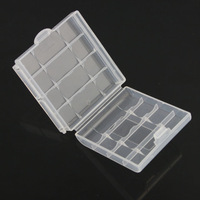 5PCS/LOT  Wholesale new Plastic Case Holder Storage Box for AA AAA Battery free shipping