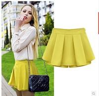 female spring summer 2014 new European and American women's casual pants big yards chiffon high waist shorts shorts female