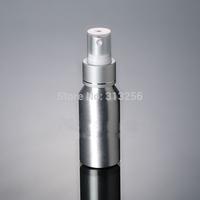 1000pcs 50ml Aluminium bottle pump sprayer bottle silver ring white pump spray head Aluminum metal bottle spray bottle