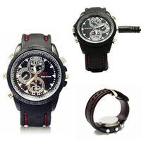 free shipping Waterproof 4GB Mini HD Camera Watch Video Recorder 720 x 480 Spy Fashion Watches mini camcorders