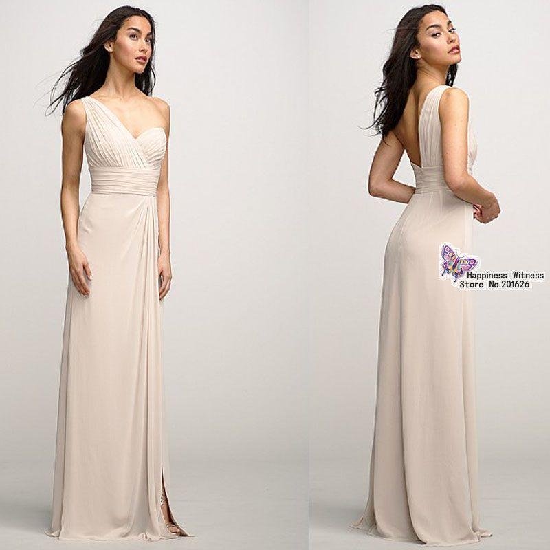 Beige Dresses For Bridesmaids Beige Chiffon Bridesmaid