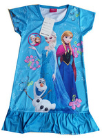 3PCS/1lot,Frozen Dress Elsa&Anna Dress For Girl new 2014 Princess Dresses Girl Dress Children girls' Clothing free shipping