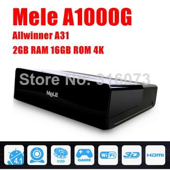 5 Pcs/lot Quad Core Android TV Box MELE A1000G Quad Cortex A7 2GB RAM 16GB ROM 1080P HDMI WiFi Media Player & MeLE F10 Mini PC(China (Mainland))