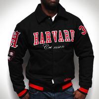 Fashion oversized men's clothing fat man jacket casual plus size  extra large outerwear