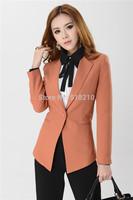 New Plus Size XXXL 2014 Spring Autumn Long Sleeve Women's Blazer Coat Jacket Tops Professional Business Women Work Wear